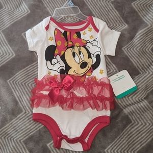Newborn Minnie Mouse 🐀❤️ Tutu Onesie